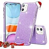 ESR Coque pour iPhone 11 Violet, Coque Silicone Paillette Strass Brillante Bling Bling Glitter de pour Apple iPhone 11 (2019) 6,1 Pouces (Série Glamour, Violet Pailleté)