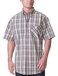 Lee Cooper - Camisa a cuadros de manga larga para hombre