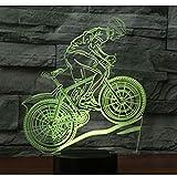 Geführte Nachtlicht-Fahrt 3D Auf Einem Fahrrad-Mountainbike Mit 7 Farben Licht Für Hauptdekorationlampe Erstaunliche Sichtbarmachung Optisch