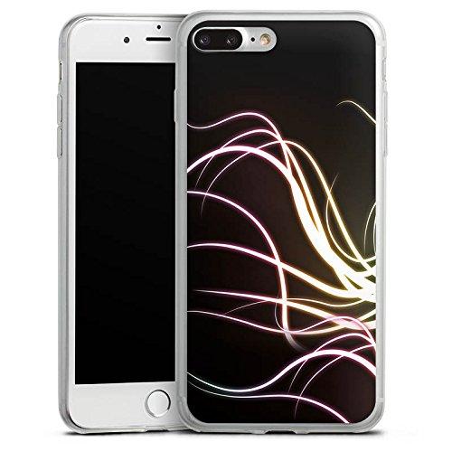 Apple iPhone 8 Plus Slim Case Silikon Hülle Schutzhülle Tenktakel Ranken aus Licht Silikon Slim Case transparent