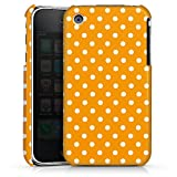 DeinDesign Coque Compatible avec Apple iPhone 3Gs Étui Housse Motif Polka Points Orange
