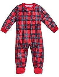 fda2949ffdb78 LAIKETE Pyjama Noel Famille Ensemble Tartan Style Vêtement de Nuit Deux  Pièces Manches Longues Impression a Carreaux Set Sleepwear…