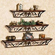 Aparios Wall Shelf with 3 Shelves (Brown)
