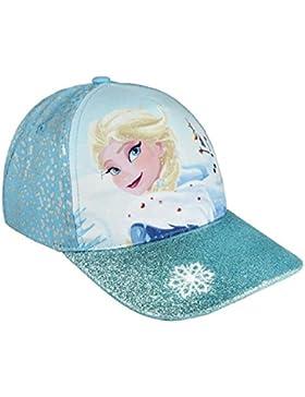 Cappello Cotone FROZEN Disney Anna Elsa con Visiera GLITTERATA