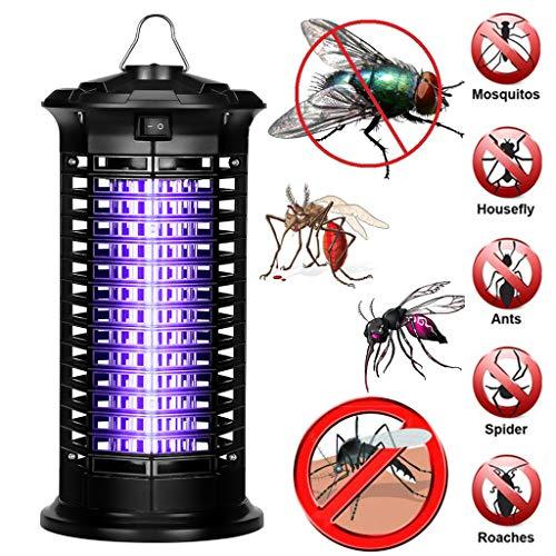 .◕‿◕.Elektronischer Mückenvernichter,Elektrischer UV Insektenvernichter Mückenfalle Schutz vor Elektrischem SchlagTragbare Insektenlampe gegen Mücken, Fliegen, Moskitos für Innen (Schwarz)
