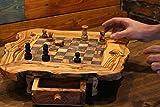 handgeschnitzt Chess Set Einzigartige Schach Spiel Luxus Holz Schachbrett, holz, braun, 35 cm*35cm