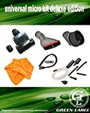 Kit Universal Deluxe de Herramientas Adaptables (32-35 mm) para micro limpieza. Compatible con Vax, Hoover, Samsung, LG, Electrolux, Siemens, Philips, etc. Producto genuino de Green Label