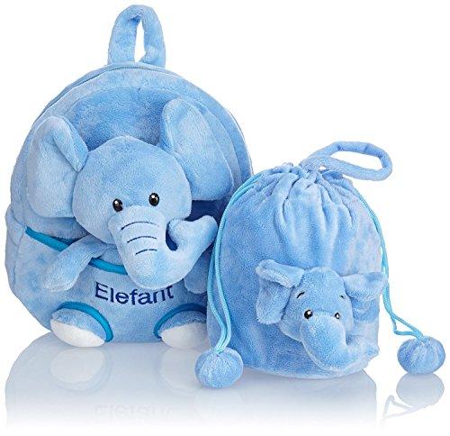 HAUPTSTADTKOFFER® 3-teiliger Kinderrucksack · 4,5 Liter · Braun · 5 Modelle (Elefant)