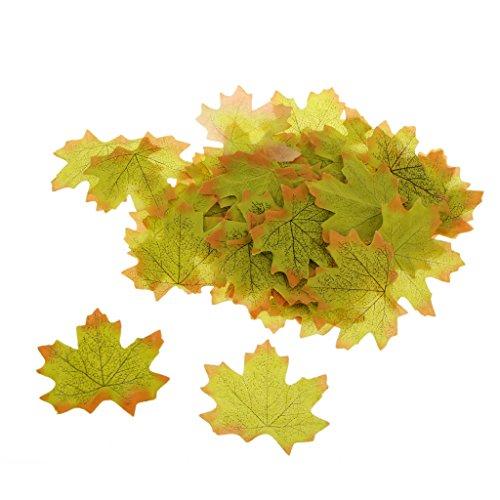 Generic 100x Künstliche Ahornblatt Herbst Blätter Kunstblumen Hochzeit Garten Dekoration