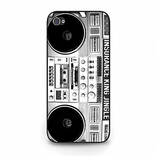 Iphone 5c Boom Box Shell Cover,Vintage Personality Boombox Phone Case Cover for Iphone 5c Boombox Classic Color151d