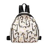 Kafe Loveso Bag Damen Mädchen Reflektierende Bunte PU Leder Mini Rucksack Umhängetasche Schultasche Reisetasche