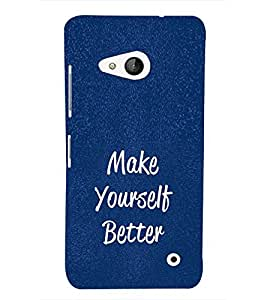 EPICCASE Make yourself better Mobile Back Case Cover For Microsoft Lumia 550 (Designer Case)