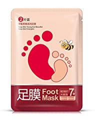 Masque pédicure exfoliation sensation pieds de bébé Oshide Silky – décolle parfaitement les callosités et peaux mortes – 1 Paire 35 g