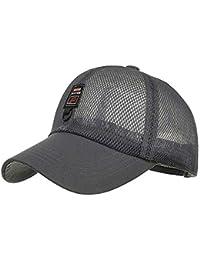 HaiDean Malla De Mujer Y De Béisbol Gorras Hombre Transpirables Modernas  Casual Sombrero Plano Sombrero De ae4c0cda744