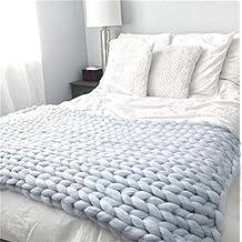 Manta de lana Kqpoinw, de punto grueso, muy grande, para sillas o sofá