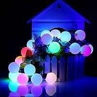 Eplze Luci Decorazione Natalizia LED 20 LED Palline di Felice su Luci Stringa 16.4ft 5M per Partito Matrimonio Natale Festival (Multicolore)