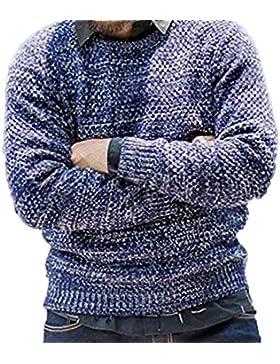 De Gran Tamaño Suelta Cuello Redondo Manga Larga Suéter Jersey Otoño E Invierno Cálido Camisa Suéter Grueso