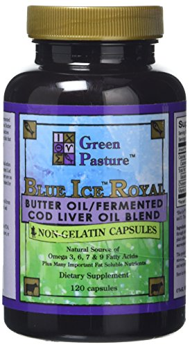 Green Pasture Blue Ice Royal Butter/Fermented Cod Liver Oil Blend - 120 Capsules Test