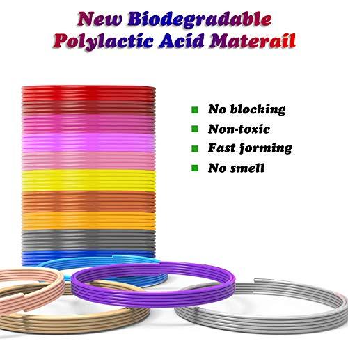 3D Stift Filament PLA, 20 Farben, je 10M – 3D Pen PLA Filament 1,75mm, 3D Stift Farben Set für 3D Druck Stift (20 Colors, 328 Ft insgesamt) - 4