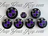 Schwarz & Lila Badge Emblem Overlay puze Trunk Felgen passend für alle M Sport