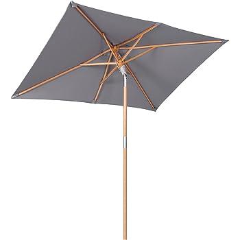 sekey 200 150 cm holz sonnenschirm marktschirm gartenschirm terrassenschirm sonnenschutz uv50. Black Bedroom Furniture Sets. Home Design Ideas