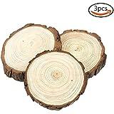 JPSOR 3 tranches de bois purement naturelles de 12-14cm, décorations de mariage faites à la main