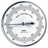 Fischer, Barometer aus Edelstahl in Edelstahl-Schutzhülle
