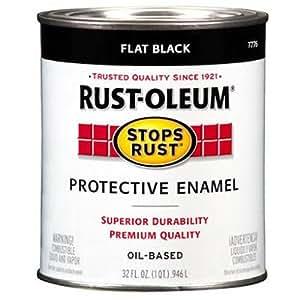 Rustoleum 1 Quart Flat Black protection -mail peinture - l'huile de base 7776-502