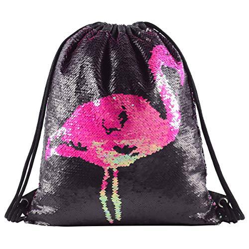 Deeplive Fashion Mermaid - Mochila de Lentejuelas con cordón Brillante para el...