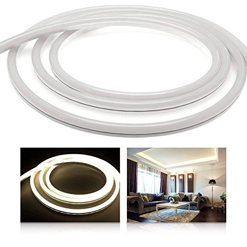 ledu Neon Flex Premium Blanco Neutro LED tira LED (24V, LED de Stripe sin puntos de luz, luz constante, 9W/M, eficiencia energética: A), 7 Meter 24.00 volts