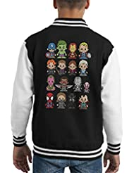 Lil Marvel Comic Universe Kid's Varsity Jacket