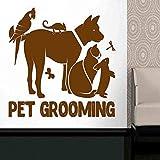 zqyjhkou Grooming Salon Art Stickers - Calcomanía de Cuidado de Animales para Cachorros para Tienda de Mascotas - Calcomanía de Vinilo para peluquería de Mascotas para escaparate 6 42x42cm