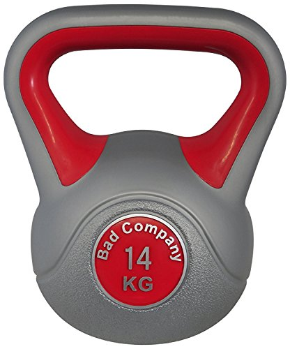 Bad Company Kettlebell als Set oder einzeln I Kunststoff Kugelhantel und Ablage-Rack I Schwunghantel Workout - Color Line I 14 kg
