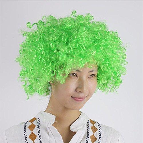 Clown Curly Fancy Hair Perücken Weihnachten Hochzeit Party Kostüm Halloween Weihnachten Dekoration Zubehör Cosplay Kopfbedeckung für Kinder Erwachsene, (Kostüm Baum Kopfbedeckung)