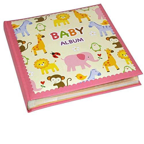 Kenro Baby Zoo Serie Pink Memo Album, um 120Fotos 15,2x 10,2cm/10x 15cm in Ein Andenken Box-kb301pk