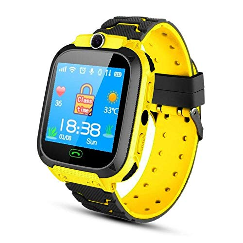 Hamkaw Kinder GPS-Verfolger-Uhr - Anruf SOS-Spiele Kamera Kid Armbanduhr 1,44 Zoll ultradünne Kinder Smart-Phone Watch Smart-Armband mit Two-Way für Kinder im Alter von 3-12 (Kinder Für Uhr-verfolger)