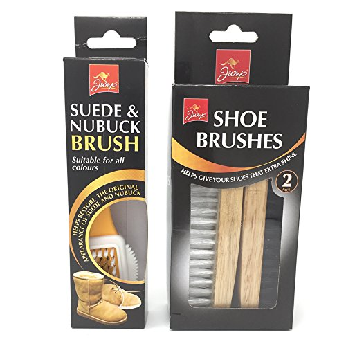 Product Image of Jump Suede & Nubuck Brush and Jump Shoe Brushes x 2. Clean your suede or nubuch shoes plus shoe shine brush.