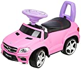 Jamara 460240 - Rutscher Mercedes GL63AMG pink – Kippschutz, Kunstledersitz mit roten Ziernähten, Kofferraum unter der Sitzfläche, Rückenlehne, Scheinwerfer vorne / hinten, Motorsound, Hupe, Musik