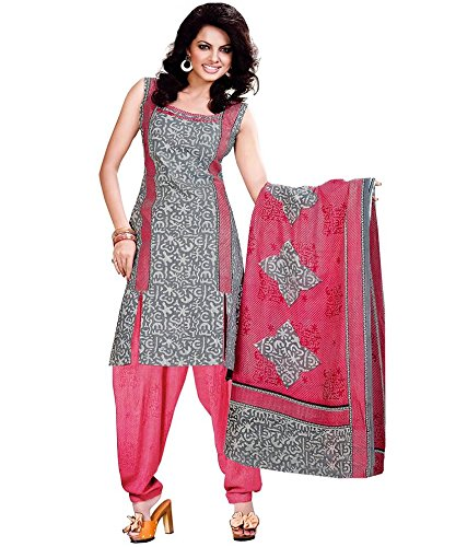 Miraan Women's Cotton Unstitched Salwar Suit Dress Material (Sg445 _Pink _Free Size)