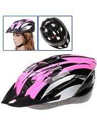 Dcolor Casco de Carbono para Bicicleta con Visera para Adulto Circunferencia de Cabeza 54-65cm/ Ancho de Cabeza Bajo 16cm