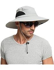 EINSKEY Chapeau Soleil Homme Femme Pliable Ete Anti UV Outdoor Bucket Hat Étanche Chapeau de Voyage Safari Casquette