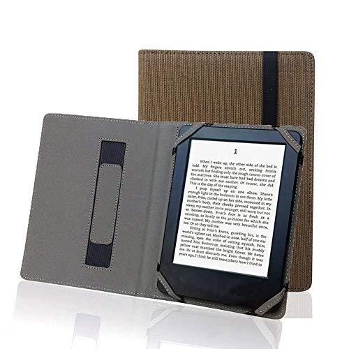 Enjoy-Unique Schutzhülle aus Naturleinen für 15,2cm (6Zoll) eBook Reader, universal, für Sony/Kobo/Tolino/Pocketbook
