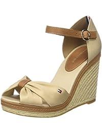 Zapatos marrones de otoño Tacón de cuña oficinas para mujer D4N7bbWi