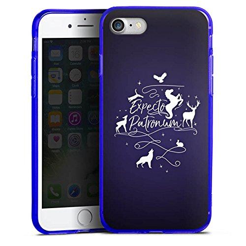 Apple iPhone 7 Silikon Hülle Case Schutzhülle Expecto Patronum Harry Potter Statement Silikon Colour Case blau