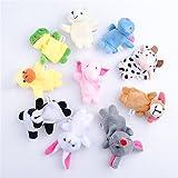 Etelux 10 Baby Lernspielzeug lernt die Geschichte von weichen Plüsch Tiere Fingerpuppen
