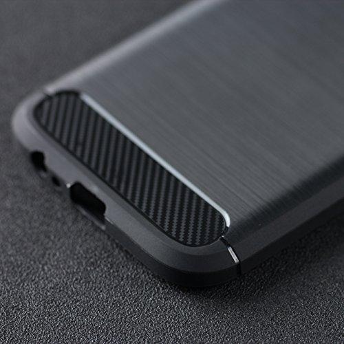 Samsung Galaxy A5 2017 Coque,Lizimandu Tpu Silicone Gel Étui Housse Protection Shell Cover Case Pour Samsung Galaxy A5 2017(Bleu/Blue) Noir/Black