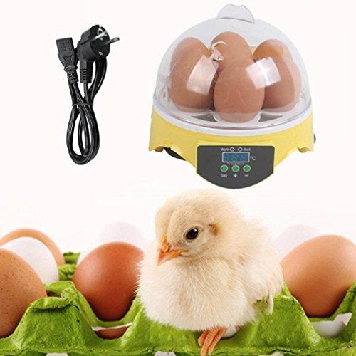 ulable 7Eier Digital Eier Inkubator für Geflügel Enten Huhn Eier Hatcher EU-Stecker