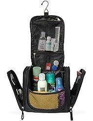 Geräumiger Premium Kulturbeutel zum Aufhängen   Große Reise-Kulturtasche für Frauen & Männer   Wasserresistente Waschtasche mit vielen Fächern   XXL-Kosmetiktasche mit Henkel