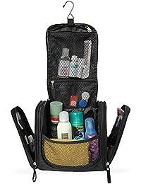 Geräumiger Premium Kulturbeutel zum Aufhängen | Große Reise-Kulturtasche für Frauen & Männer | Wasserresistente Waschtasche mit vielen Fächern | XXL-Kosmetiktasche mit Henkel