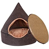 STAZSX Doghouse Removable Yurt Teddy Teddy Kleine Hund Katze Katzenstreu Closed Hund liefert Four Seasons, S: 43X43X46CM